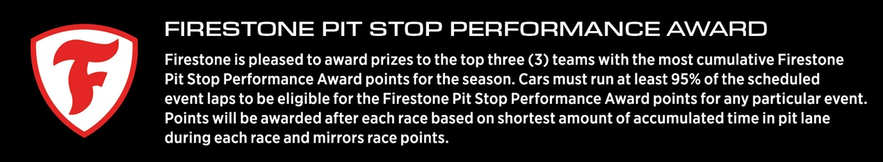 Firestone Pit Stop Performance Award