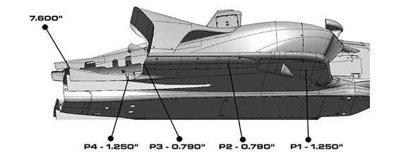 Underwing: Short Oval Dimensions
