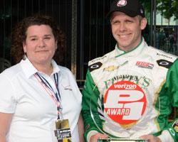 Carpenter awarded Verizon P1 Award