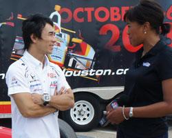 Takuma Sato in Houston