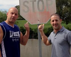 Tony Kanaan and Vin Diesel