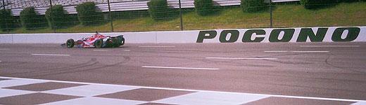 Marco Andretti testing at Pocono