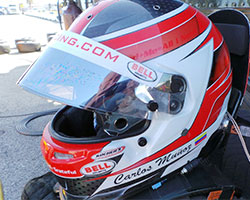 Carlos Munoz Helmet