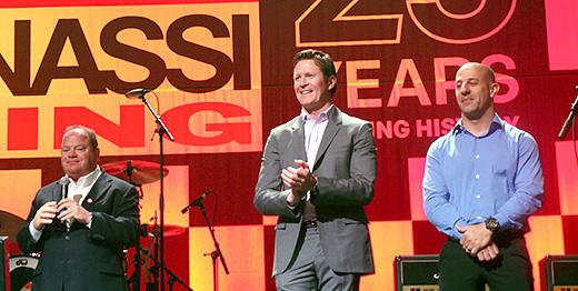 Chip Ganassi, Scott Dixon, and Tony Kanaan