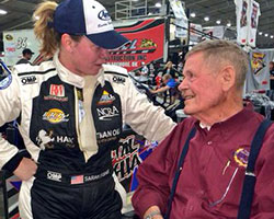Sarah Fisher and Bobby Unser