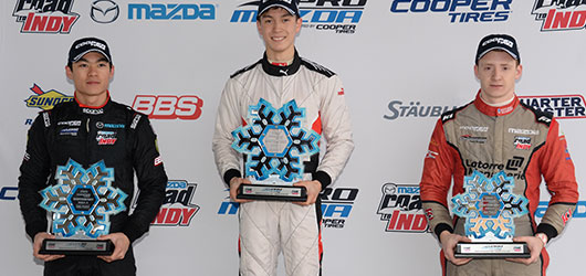 Pro Mazda Winterfest at Barber Race 1