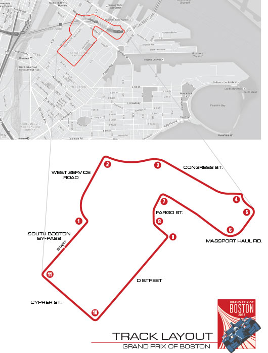 Grand Prix of Boston Course Layout