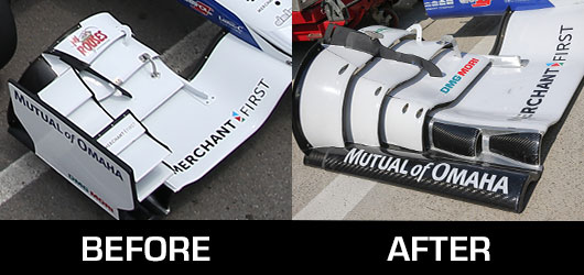 Honda Front Wing Comparison