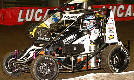 Sarah Fisher competes in the Chili Bowl in 2015
