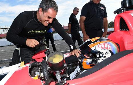 Juan Pablo Montoya and Oriol Servia