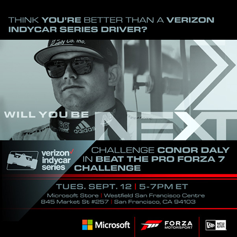 Microsoft Forza Challenge with Conor Daly