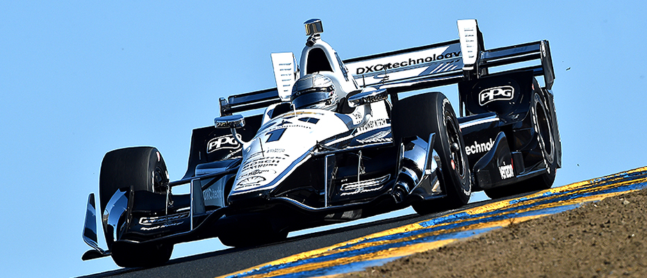 Simon Pagenaud in the DXC Chevrolet at Sonoma.