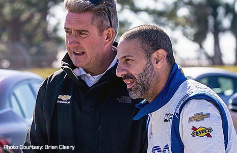 Tony Kanaan and Wayne Bennett of Ilmor/Chevrolet