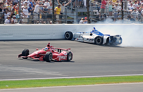 Dario Franchitti and Takuma Sato