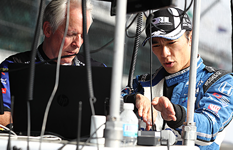 Takuma Sato and Eddie Jones