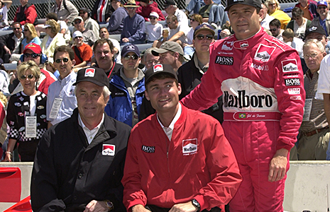 Roger Penske, Tim Cindric, and Gil de Ferran