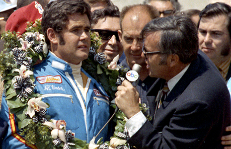 Chris Economaki and Al Unser