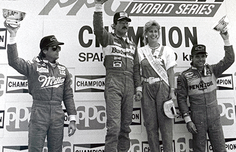 Bobby Rahal, Danny Sullivan, and Emerson Fittipaldi