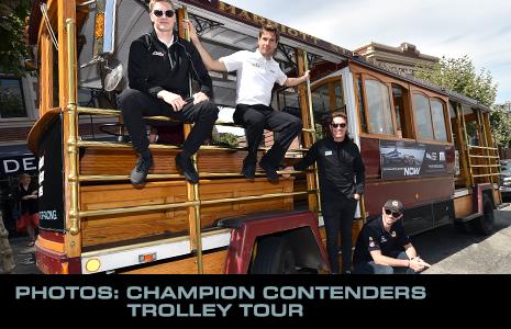 Josef Newgarden, Will Power, Scott Dixon, and Alexander Rossi