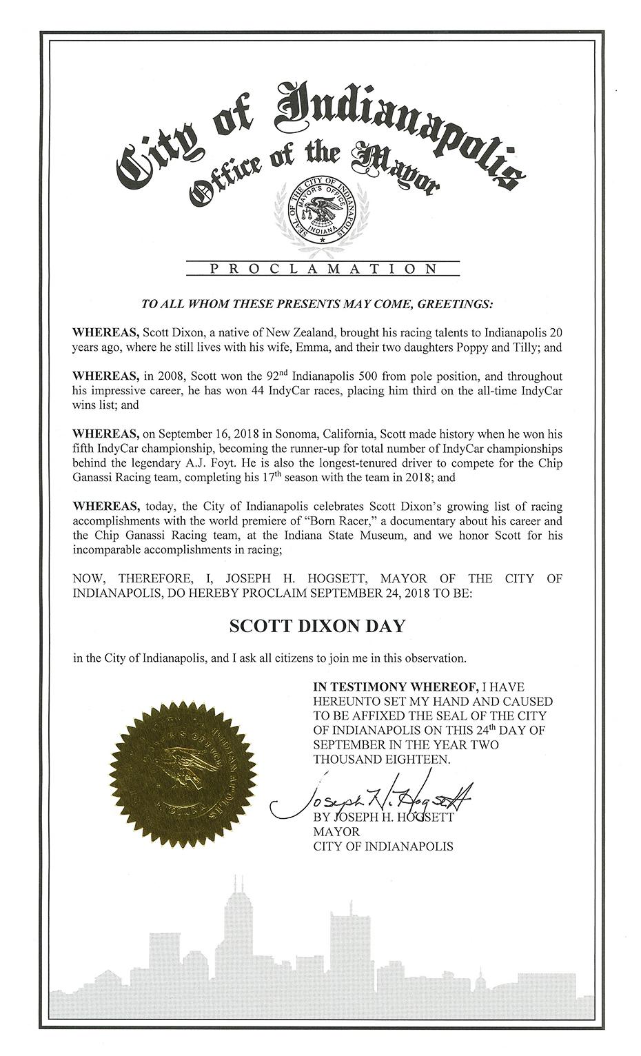 Scott Dixon Day