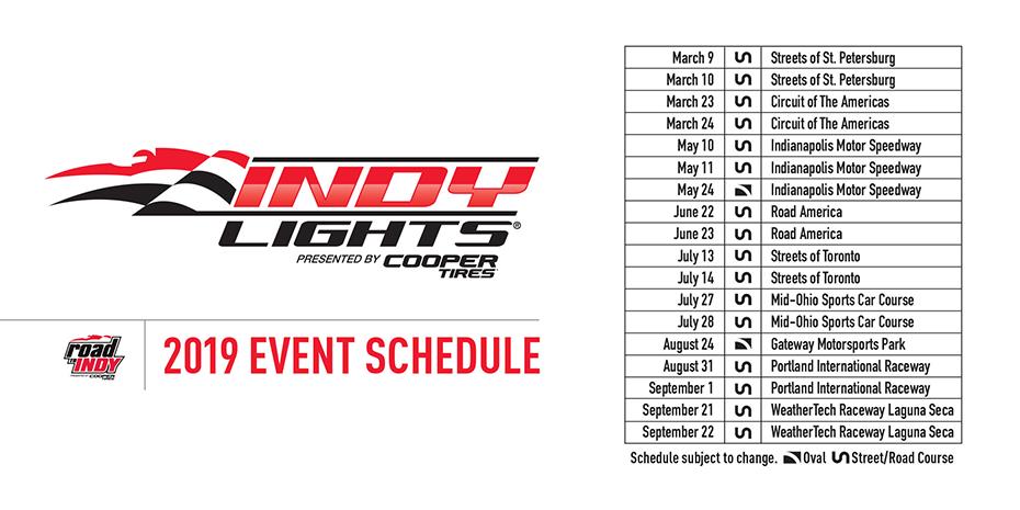 2019 Indy Lights Schedule