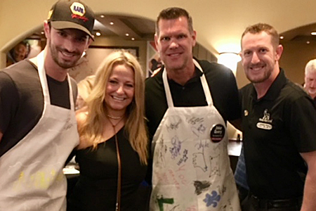 Jake Query with fellow celebrity chefs Alexander Rossi, Laura Steele and Charlie Kimball