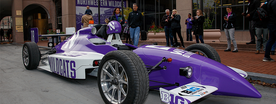 Northwestern Wildcats Two-Seater