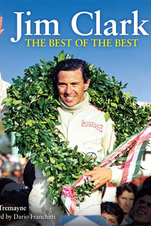 The book cover shows Jim Clark.
