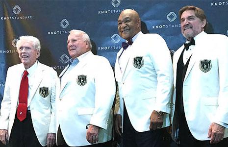 Jackie Burke, A.J. Foyt, George Foreman, and Dan Pastorini