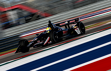 Spencer Pigot on track at Circuit of The Americas