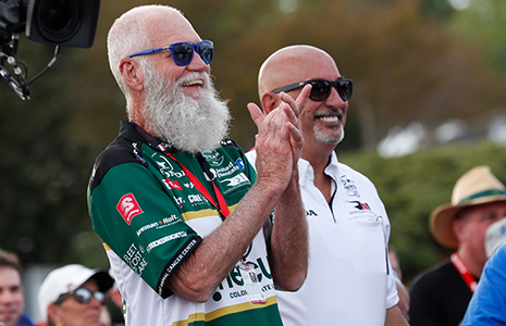 David Letterman and Bobby Rahal