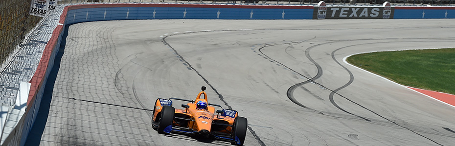 Fernando Alonso on track Texas Motor Speedway