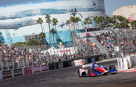 Tony Kanaan on track Long Beach