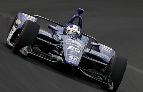 Ed Carpenter on track Indianapolis