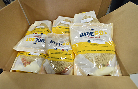 Box of packaged meals