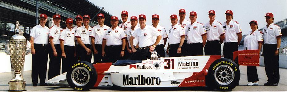 Al Unser Jr. 1994 Indy 500 winning team photo