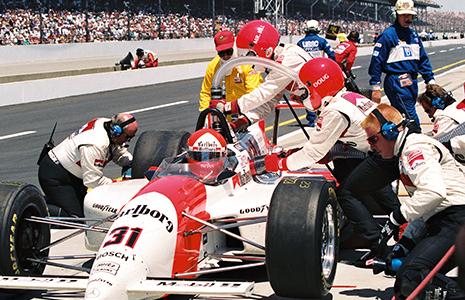 Al Unser. Jr 1994 Indy pit stop