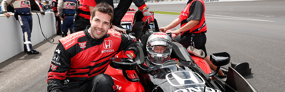 Corey Crawford and Mario Andretti