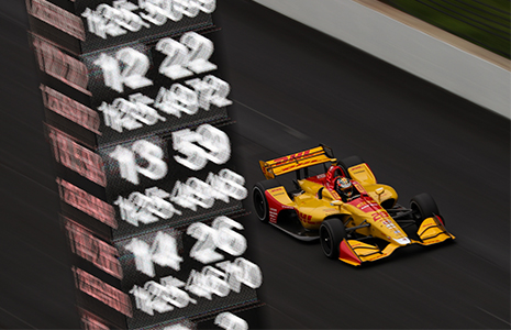 Ryan Hunter-Reay IGP on track