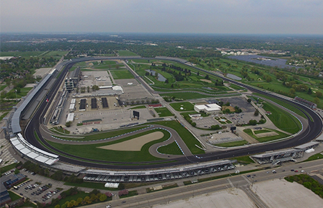 Indianapolis Motor Speedway overhead