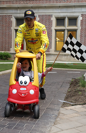 Helio Castroneves at Riley Hospital