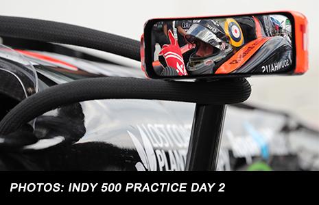 James Davison in rear view mirror