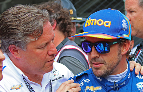 Zak Brown and Fernando Alonso