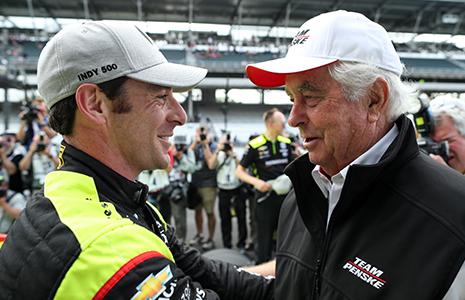 Simon Pagenaud and Roger Penske
