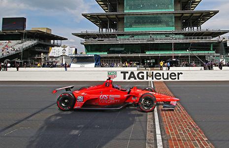 Marco Andretti crosses yard of bricks