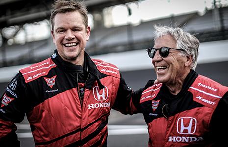 Matt Damon and Mario Andretti