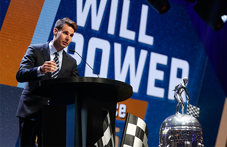 Will Power at Indy 500 Victory Celebration