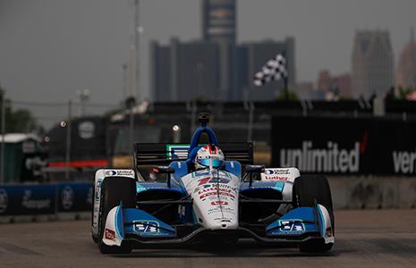Graham Rahal on track Detroit