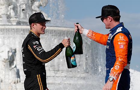 Marcus Ericsson and Scott Dixon