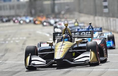 Marcus Ericsson on track Detroit